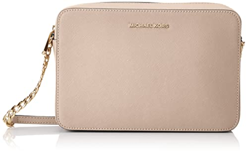 4219c135a076 Michael Kors Womens Jetset Lg Ew Crossbody Cross-Body Bag Pink (Soft Pink)