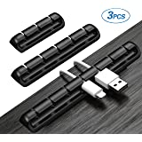 Cable Clips, Cable Management,3 Pack Multifunctional self-Adhesive Desktop Cable Organizer, Suitable for Computer Cables, Speaker Cables, Power Cables, Audio Cables, USB Data Cables。