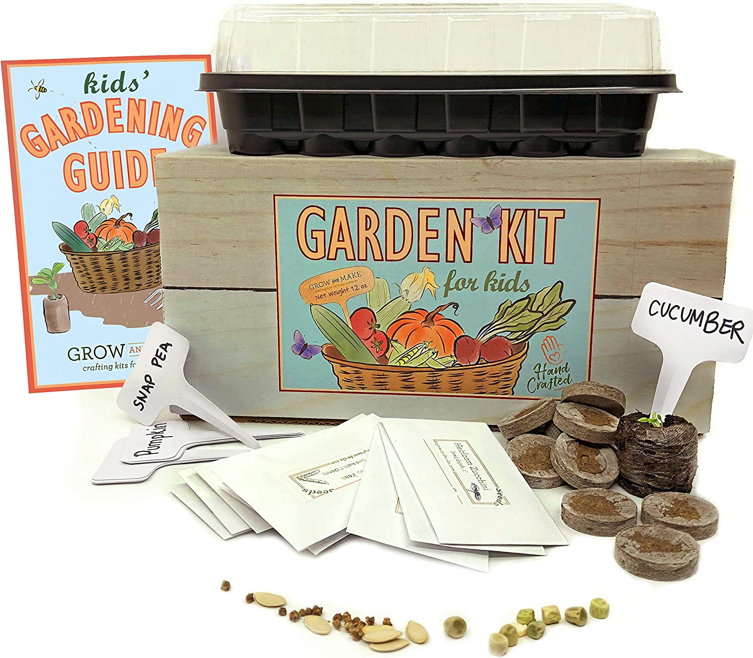 DIY Garden Kit for Kids - Learn How to Grow Your Own Vegetables and Flowers with Supplies from Grow and Make!