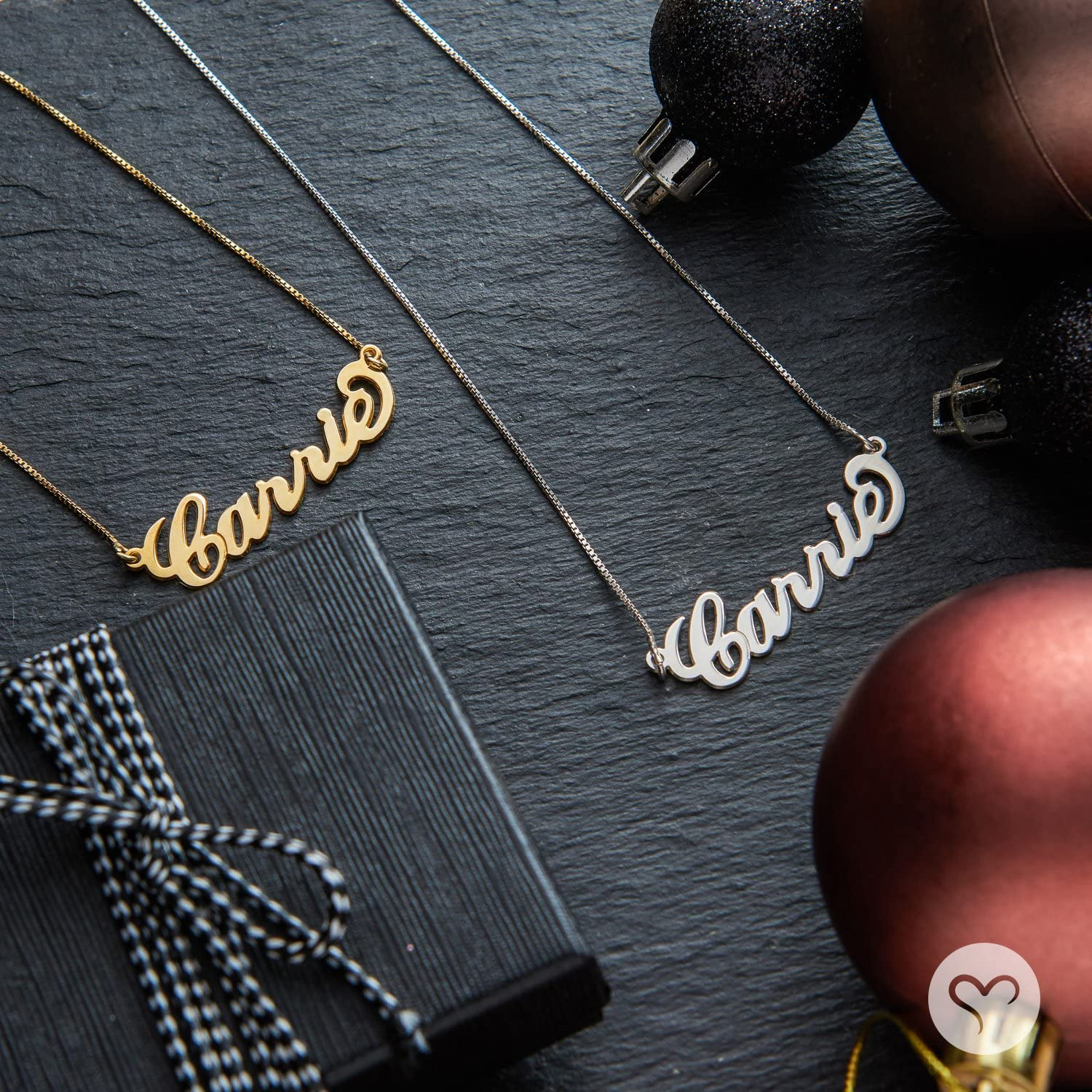 18k Gold-Plated Sterling Silver Personzlized Carrie Style Name Necklace Custom Made with any name