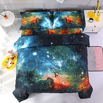 Kids Galaxy Theme Bed In A Bag Twin Size Comforter Set Girls Soft
