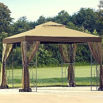 Pavillon für Whirlpool 10 x 10 Outdoor Terrasse Pergola Backyard ...
