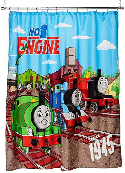 Mattel Thomas The Tank Engine Fun 70 X 72 Standard Shower Curtain