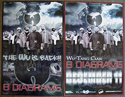 Amazon Wu Tang Clan 8 Diagrams Two Sided Poster New