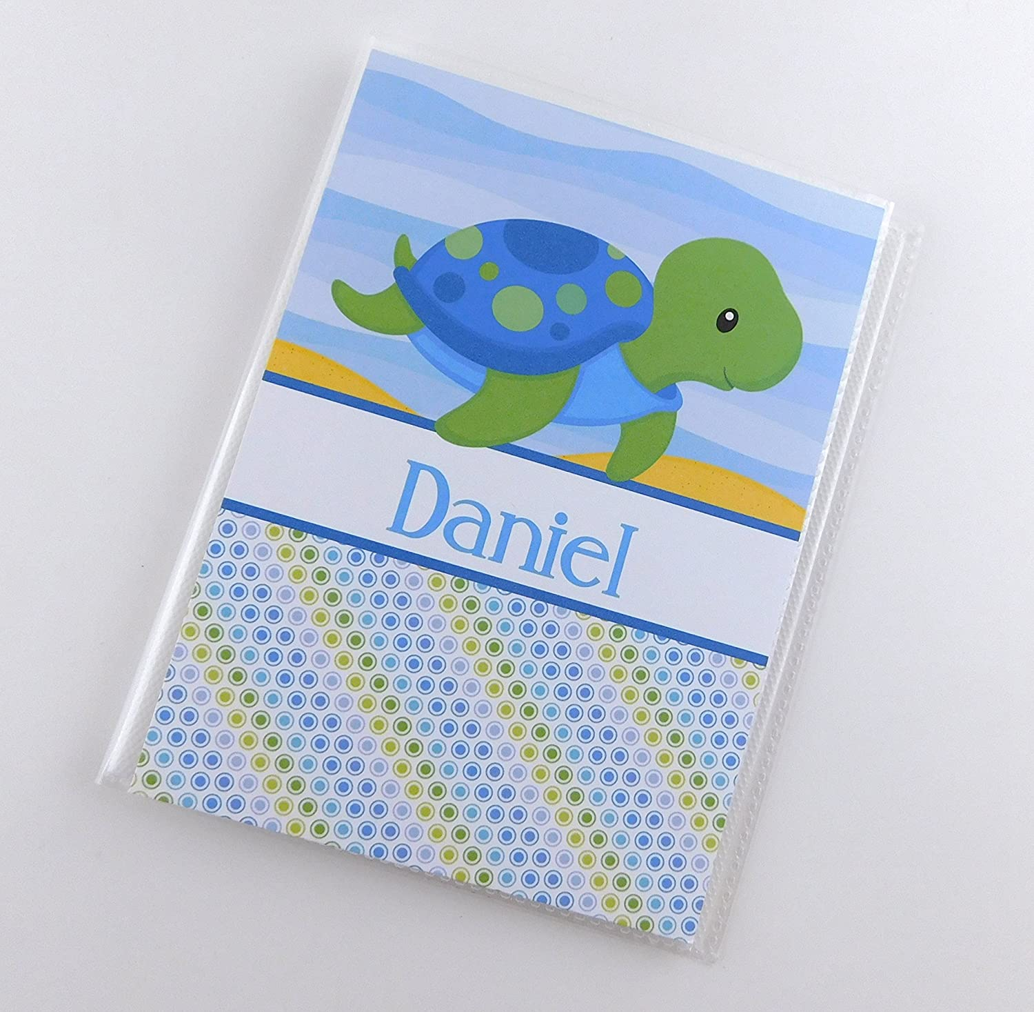 Grandma's Brag Book IA#845 Baby Boy Gift 4x6 or 5x7 Pictures Photo Album Blue Green Sea Turtle Baby Shower Gift