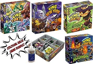 King of Tokyo + King of New York + Halloween Monster Expansion + Halloween 2017 Edition + Ajustable Evacore Insert Organizador – Juego de Mesa Bundle.: Amazon.es: Juguetes y juegos