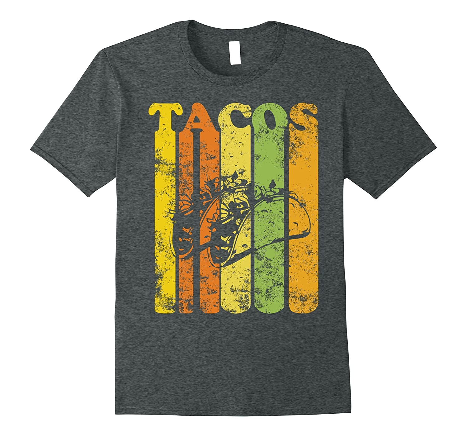 Vintage Style Funny Tacos T-Shirt Distressed Retro Style-CD