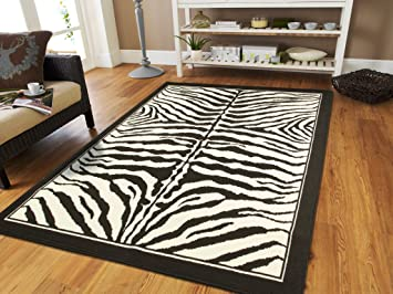 Large Area Rugs for Living Room 8x10 Zebra Animal Print Rugs For Dining  Room Clearance Under 100