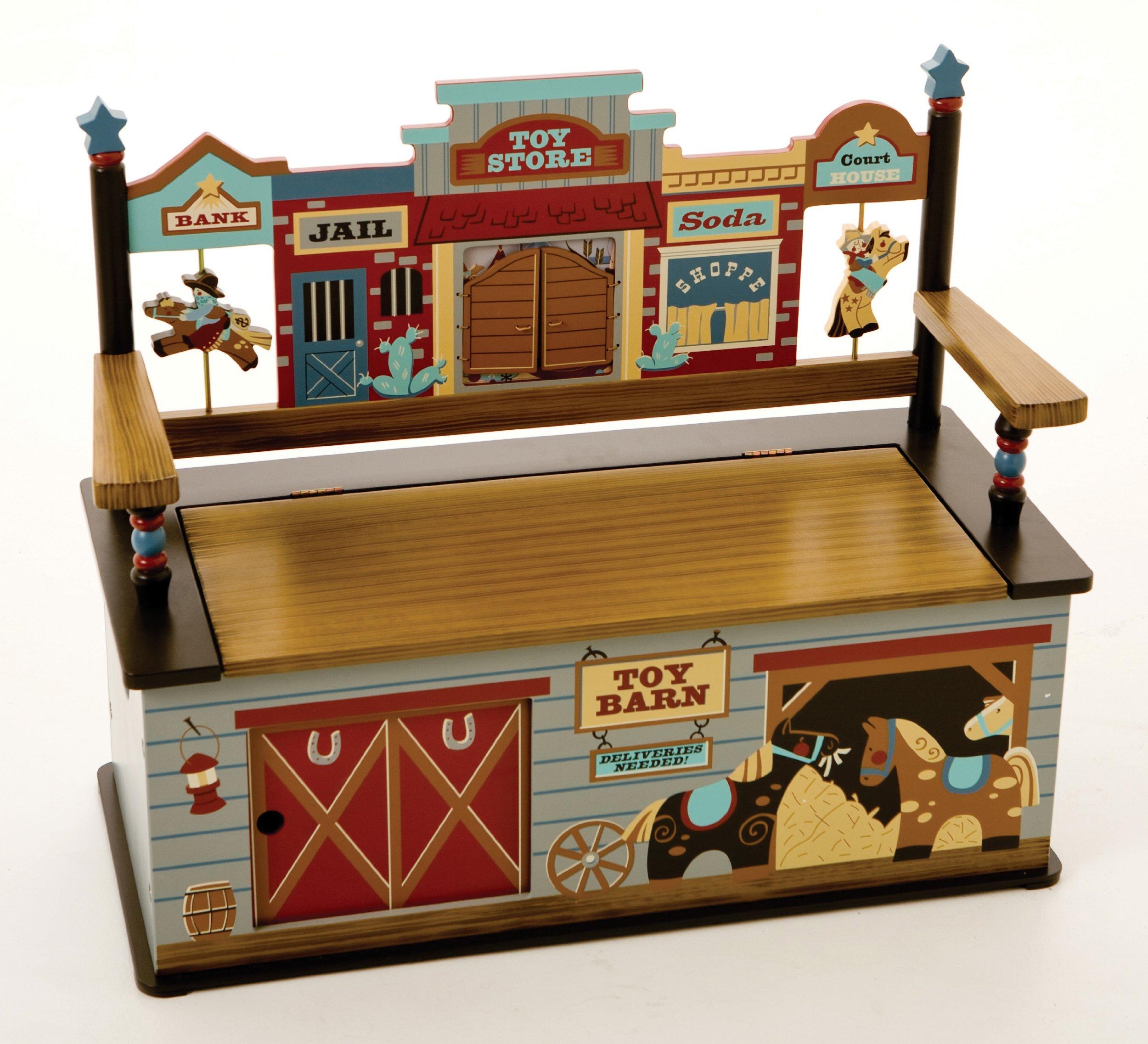 Wildkin Wild West Toy Box Bench