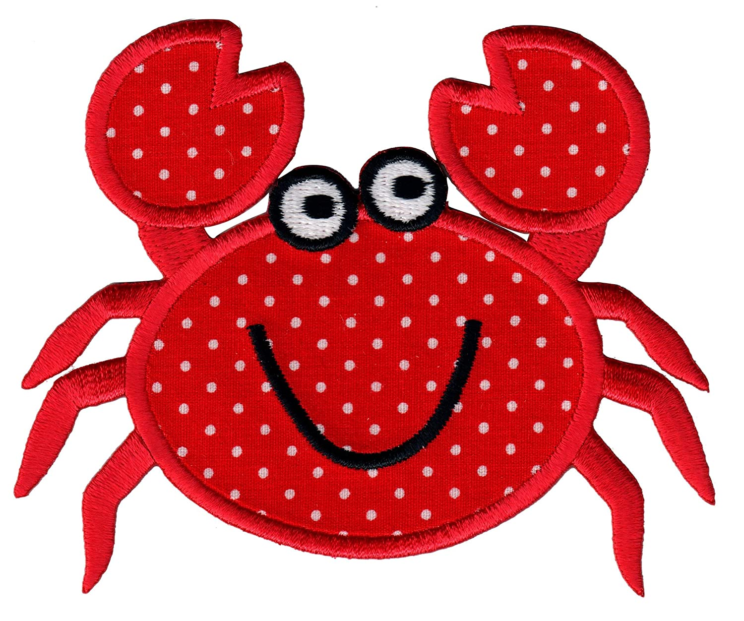 amazon com patchmommy iron on applique patch crab kids baby