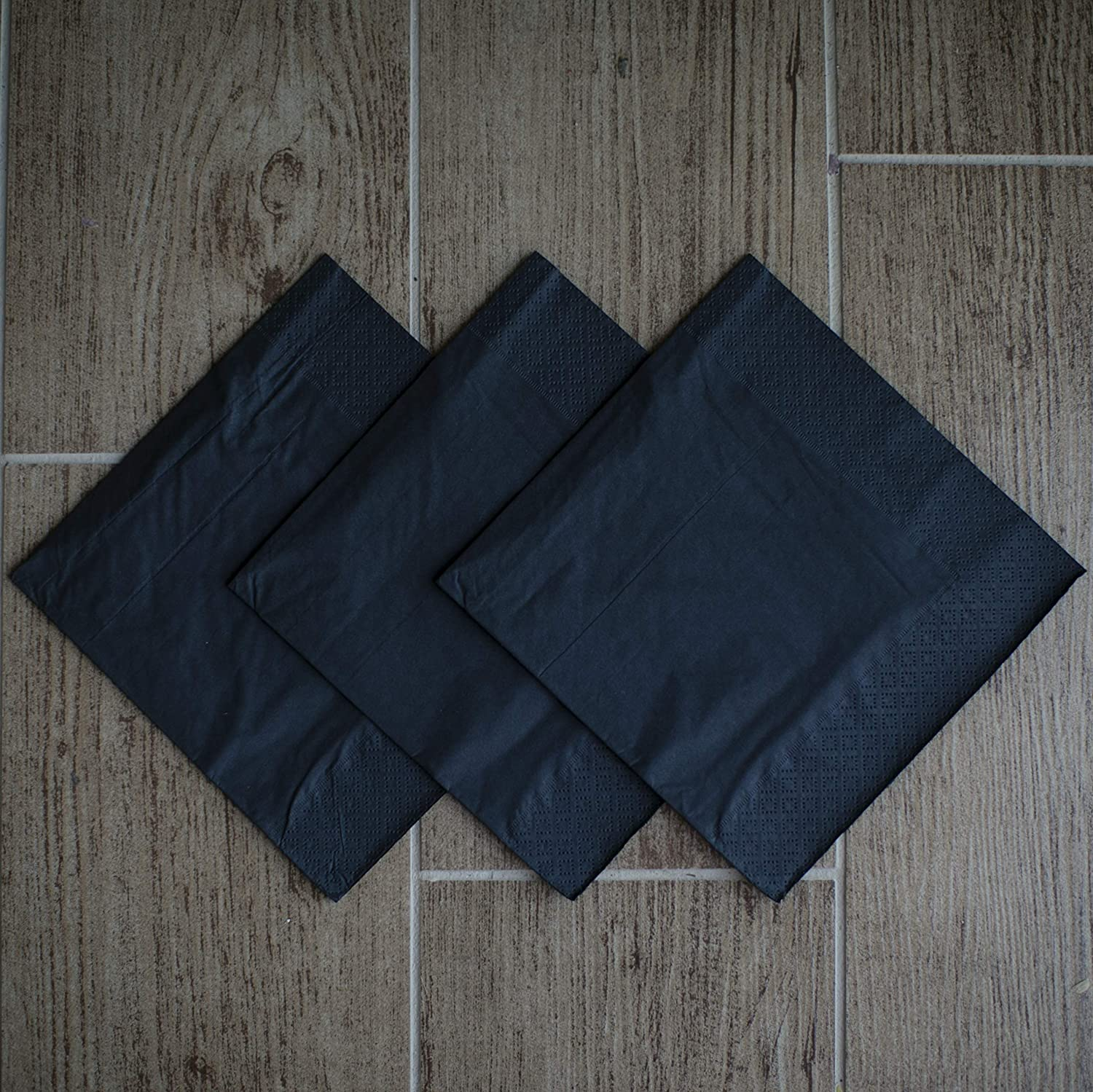 Paper Tissue Napkins 3-ply 13x13 in with print Made in Europe. 20//pkg pack Birthday Black Intense Tissue Home and Restaurant Perfect for Party