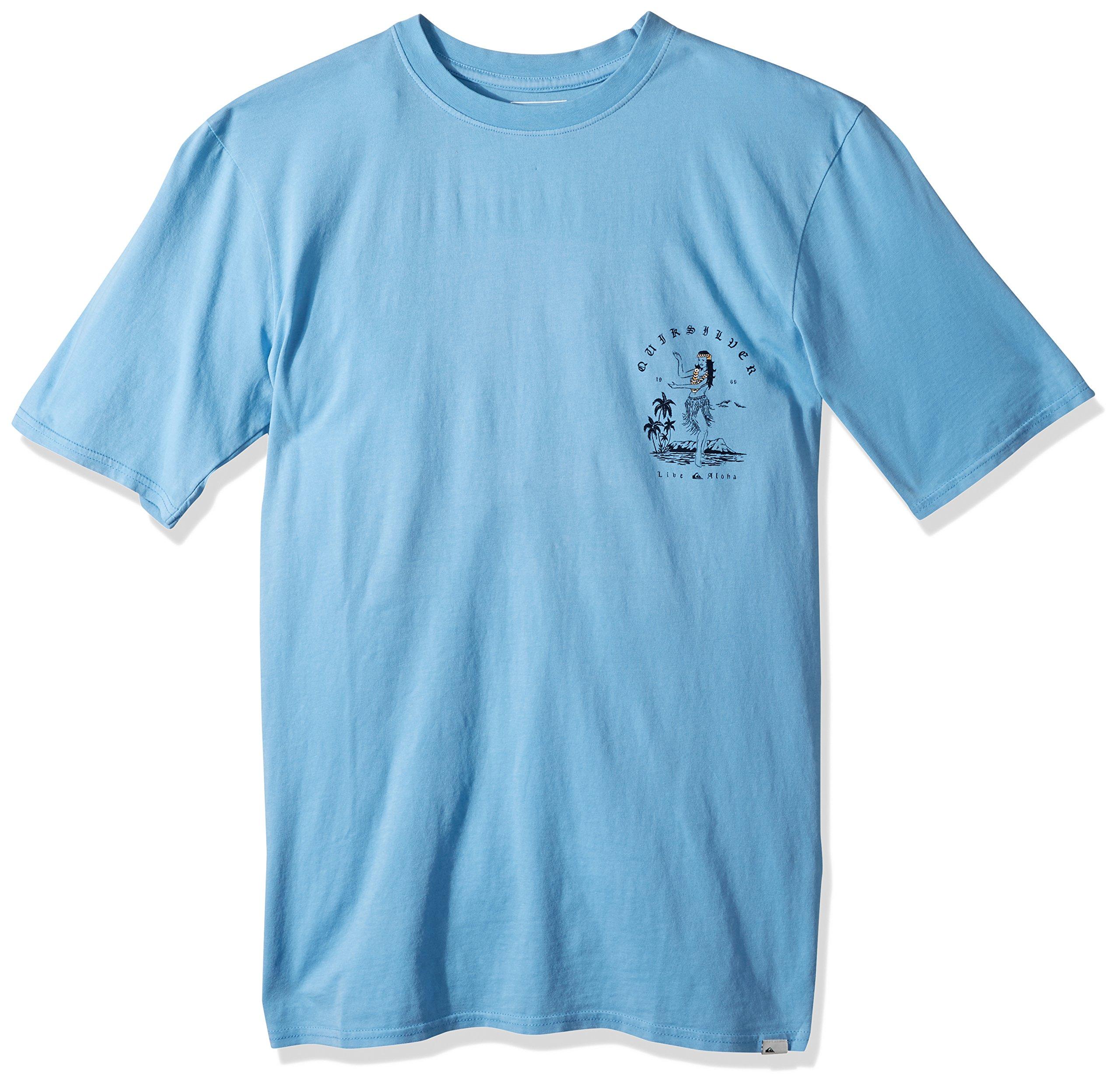 Quiksilver Men's Short Sleeve GMT Dye Curve Love, Silver Lake Blue, XL by Quiksilver (Image #1)