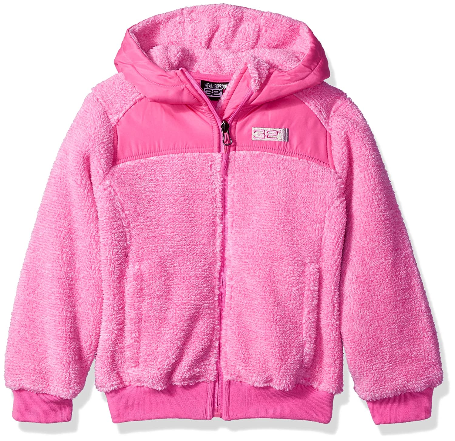 32 DEGREES Weatherproof Little Girls Outerwear Jacket (More Styles Available), Two Toned-WG198-Fuchsia, 4