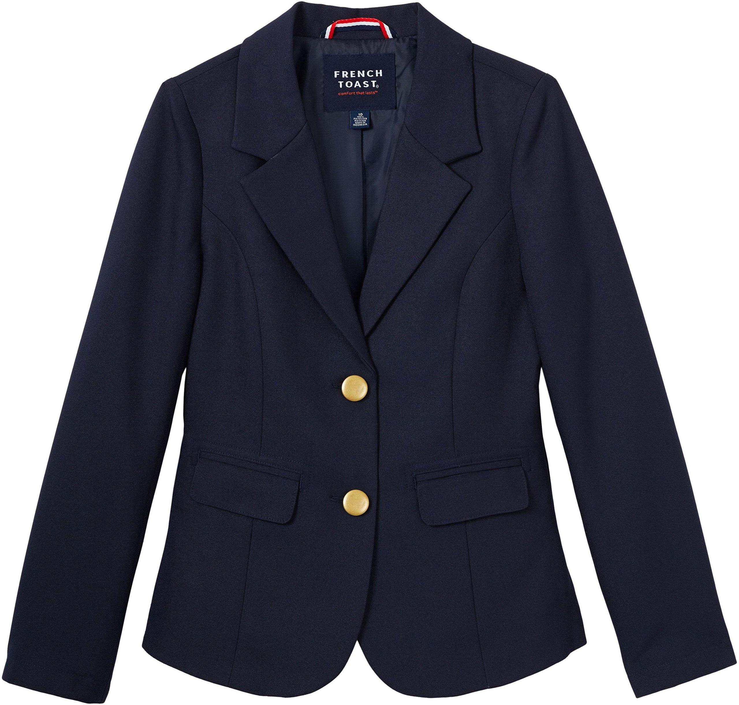 French Toast School Uniform Girls Classic School Blazer, Navy, 14 by French Toast