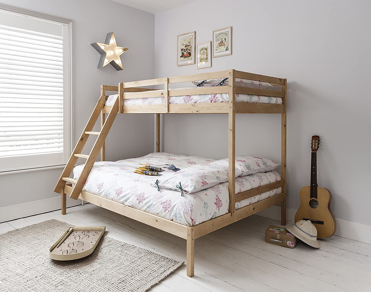 Triple Bed Bunk Bed Kent in Natural Noa & Nani