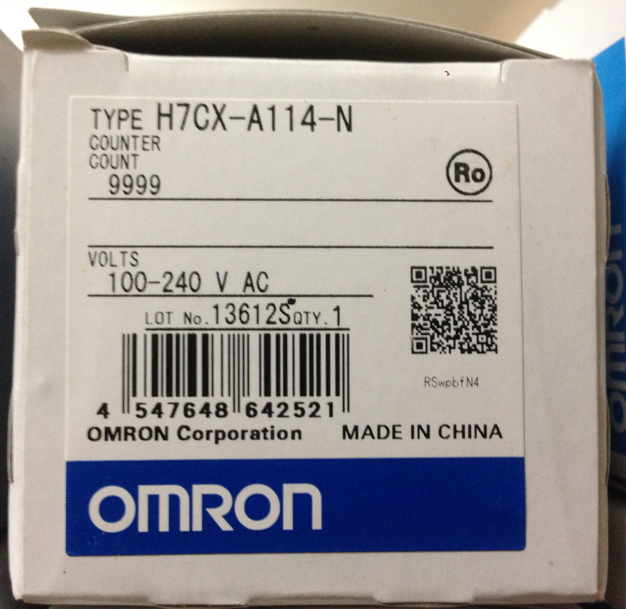 Omron H7CX-A114-N Digital Counter by Omron