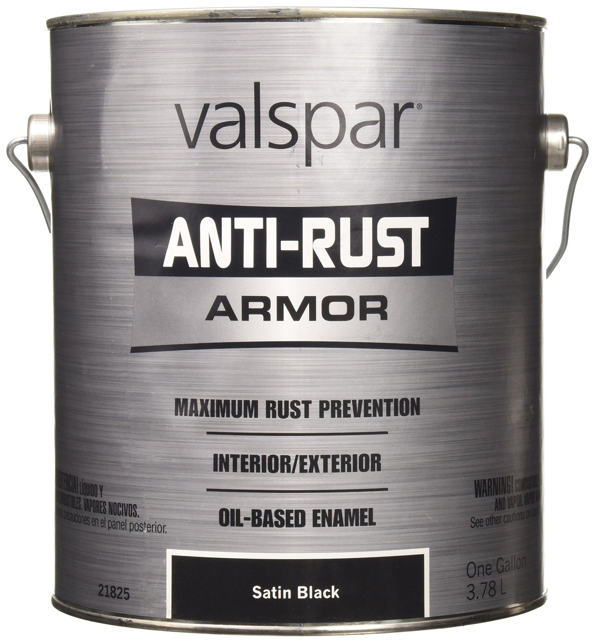 Valspar 21825G Satin Black Enamel - 1 Gallon