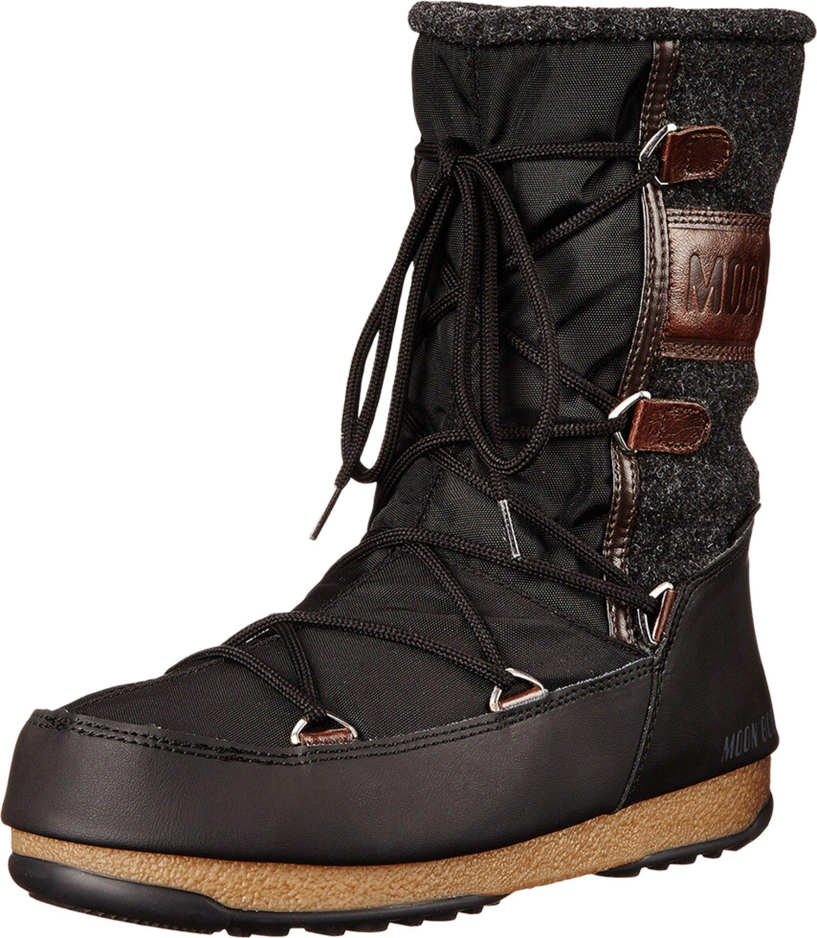 Tecnica Women's Moon W.E. Vienna Felt Winter Fashion Boot, Black, 40 EU/8.5 M US