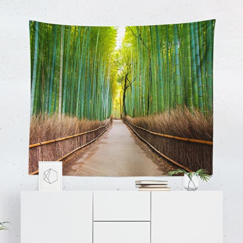 Amazon Com Bamboo Forest Tapestry Path Pathway Tree Zen
