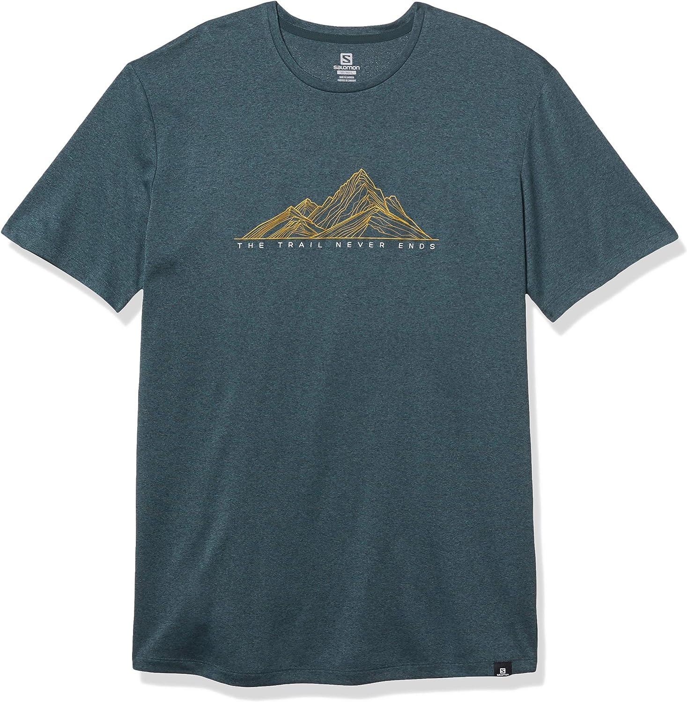 SALOMON Agile Graphic tee Camiseta, Hombre: Amazon.es: Deportes y aire libre