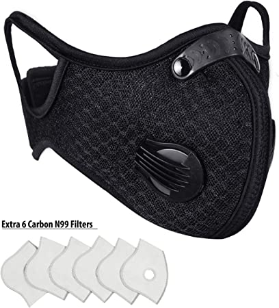 Carbon 6 Face With Valves Mask N99 Vter amp; - Breathing Extra