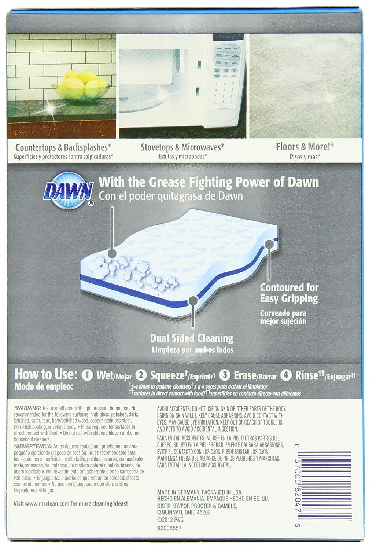 amazon com mr clean magic eraser kitchen and dish scrubber 4