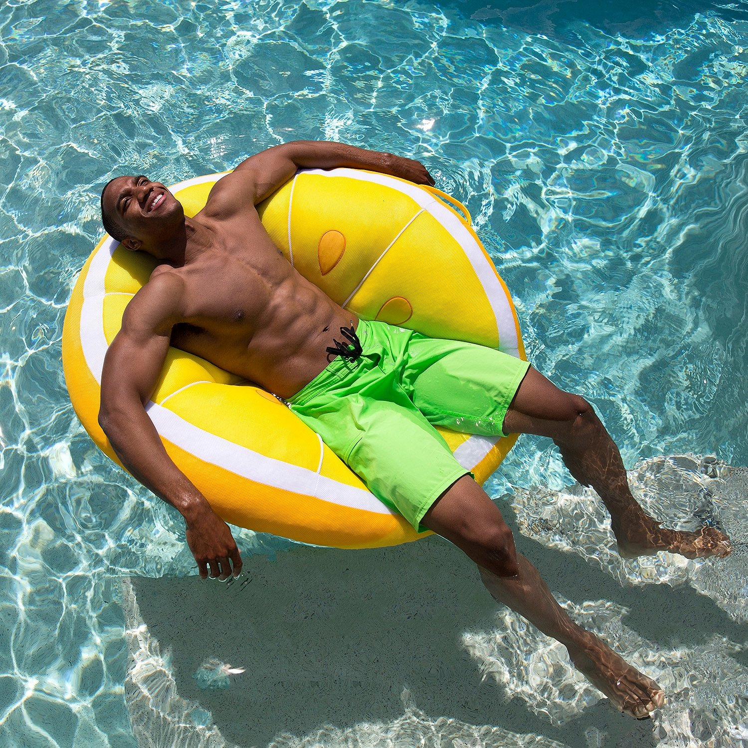 Big Joe Fruit Slice Pool Float, Lemon by Big Joe