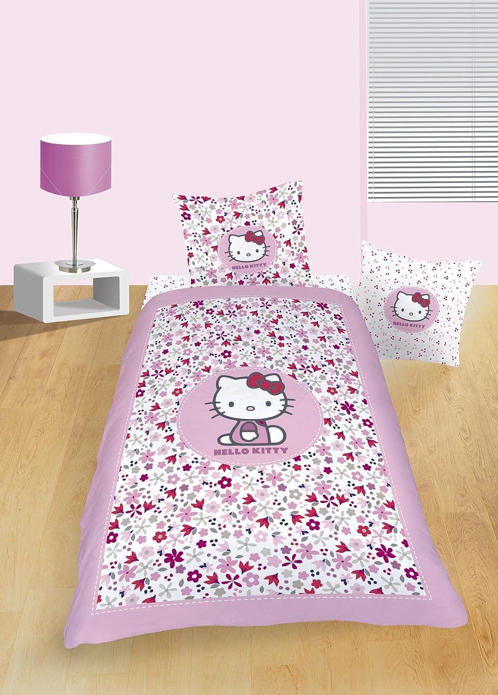Hello Kitty 38752 funda de edredón de 140 x 200 cm Flora y ...