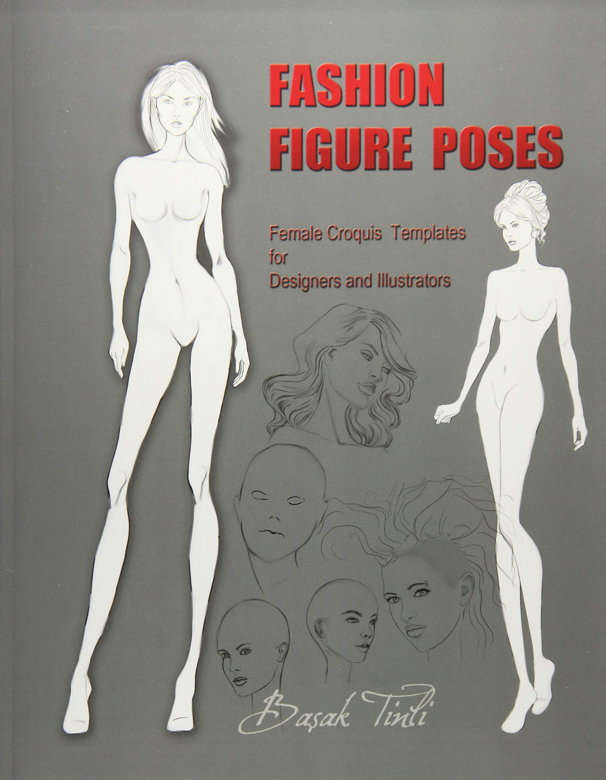 buy fashion figure poses female croquis templates for designers and