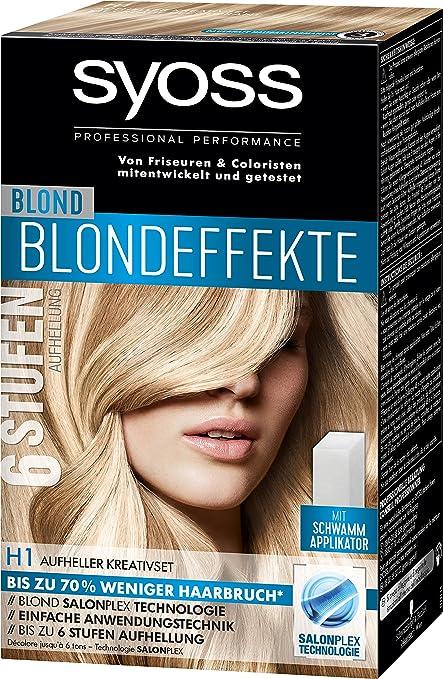 Tinte para el cabello Syoss, efecto rubio, H1, set creativo nivel 3, 3 unidades (3 x 95 ml)