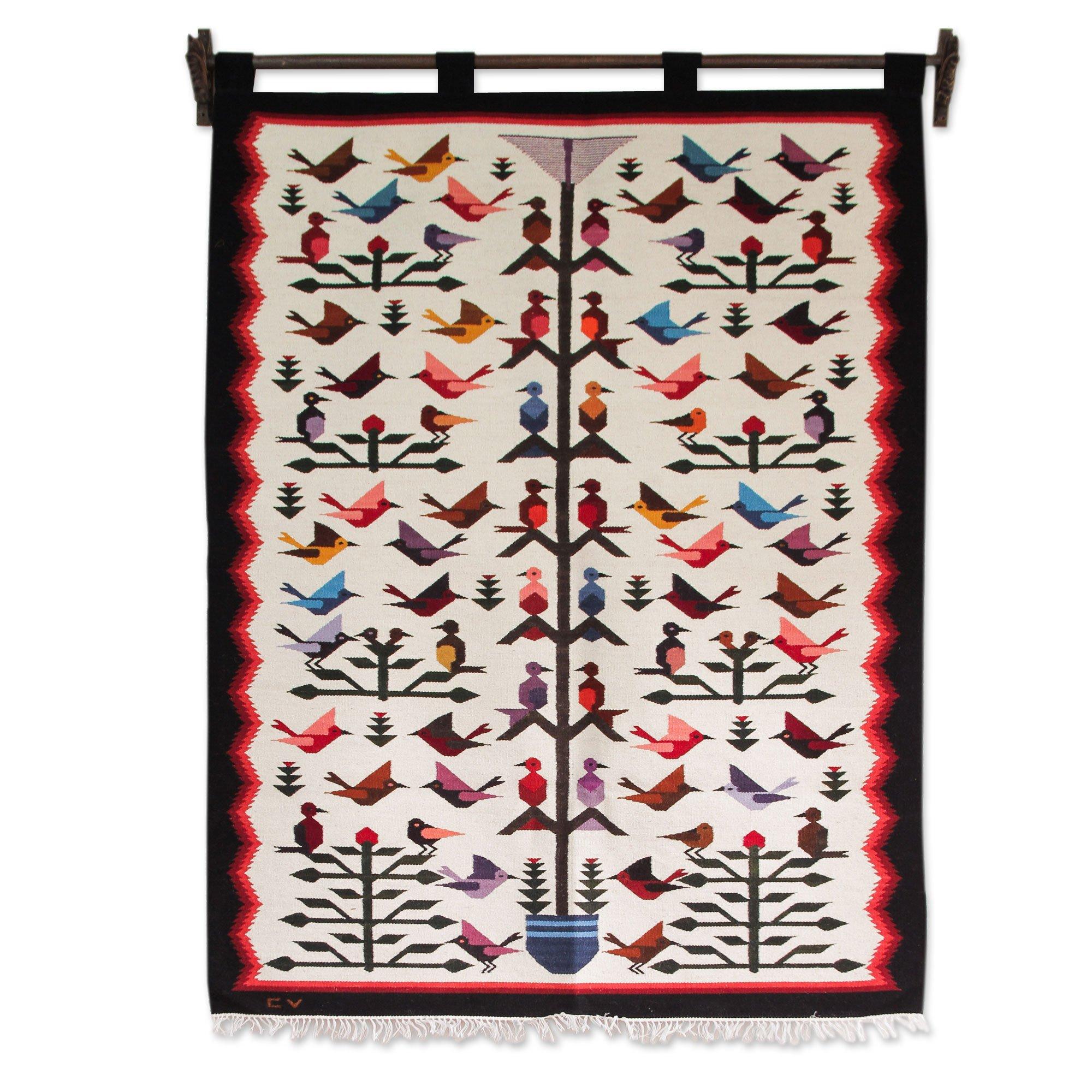 NOVICA ''Hummingbird'' Wool Tapestry