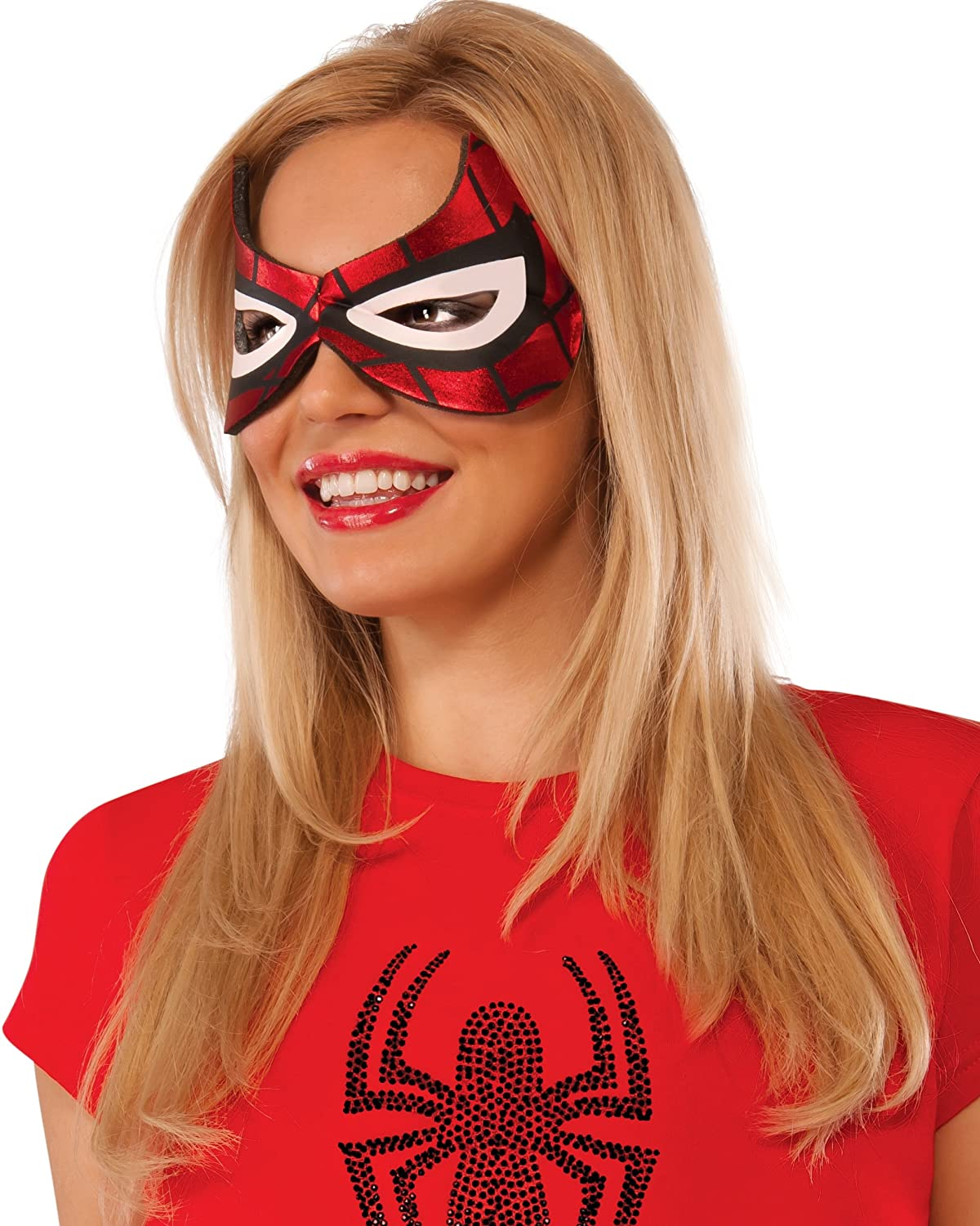 Marvel Rubie's Costume Co Women's Universe Spider-Girl Eyemask Multi One Size Rubies Costumes - Apparel 32254