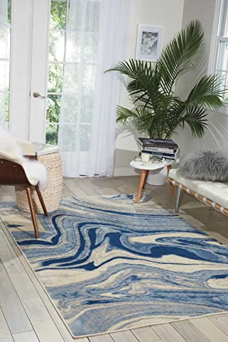 Nourison Somerset ST49 Modern Bohemian Light Blue Area Rug 7 Feet 9 Inches by 10 Feet 10 Inches , 7 9 x 10 10