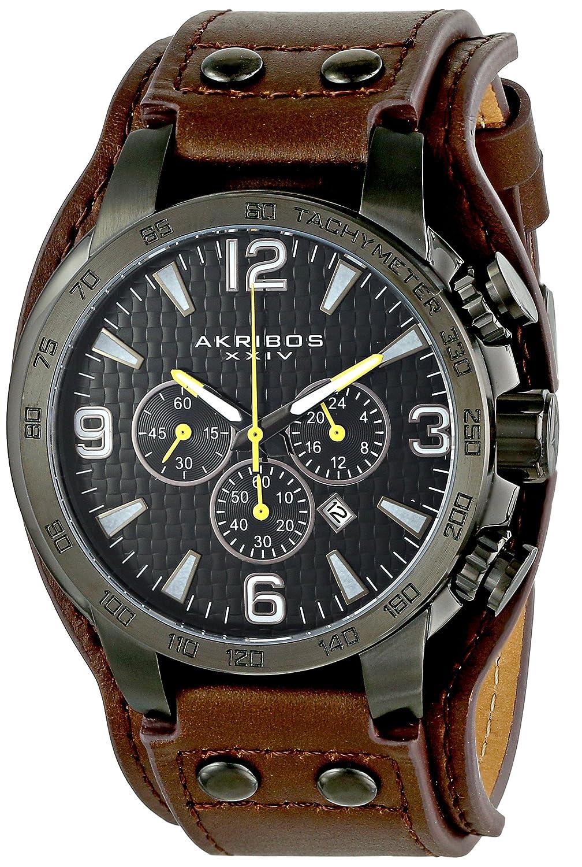 Akribos XXIV Herren-Armbanduhr Conqueror Analog Quarz AK727BKBR