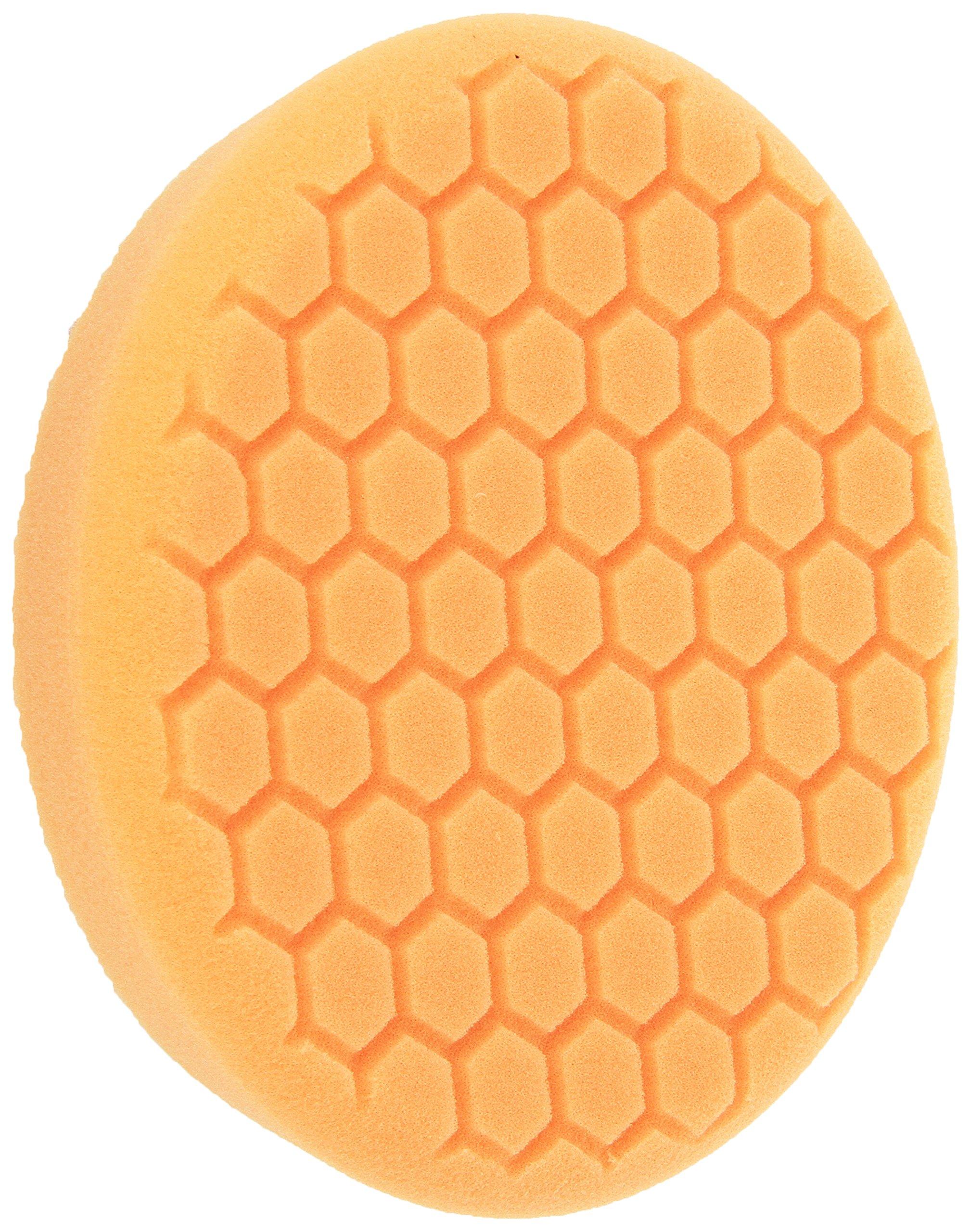 Chemical Guys BUFX_102_HEX Self-Centered Hex-Logic Medium-Heavy Cut Scratch and Swirl Remover, Orange (7.5 Inch)