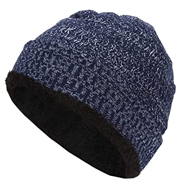 42af10de5ebe03 BIZZARE New Men's Winter Fall hat Fashion Knitted Black ski Hats Thick Warm hat  Cap Bonnet Skullies Beanie Soft Knitted Beanies Cotton0119: Amazon.in: ...