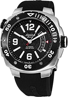 Alpina Mens Extreme Diver Black Stainless Steel Watch