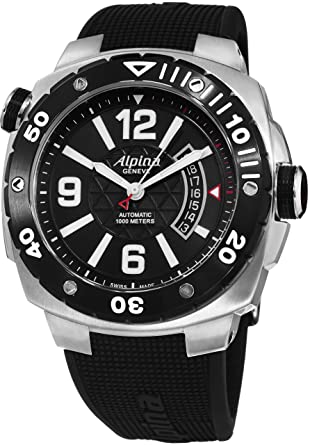 Buy Alpina Mens Extreme Diver Black Stainless Steel Watch Online At - Alpina diver watch