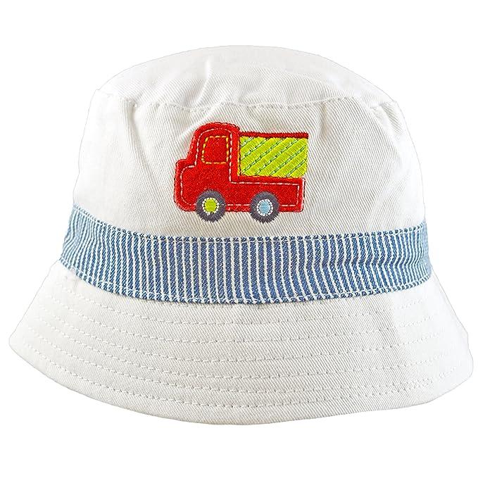 0db75458c01 Pesci Baby Boys Summer Bucket Sun Hat Fire Engine Motif  Amazon.co.uk   Clothing