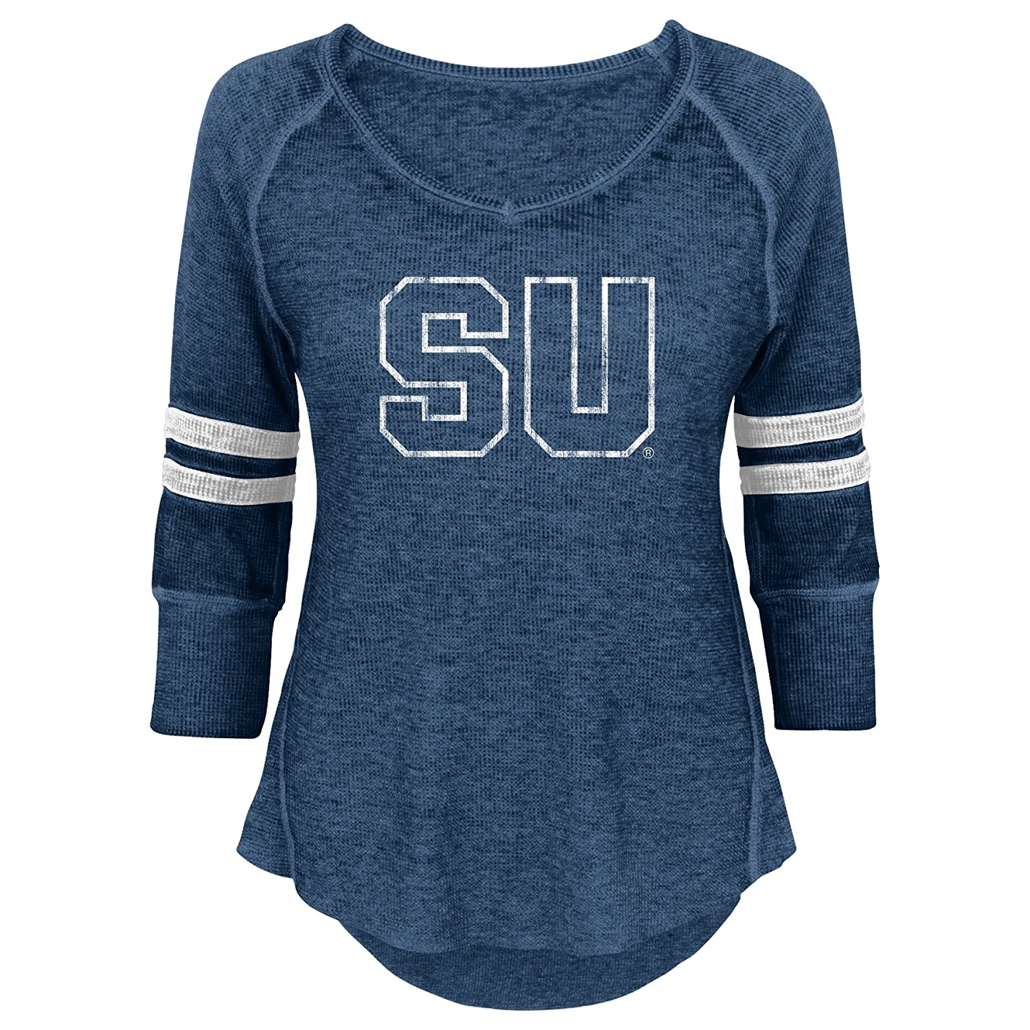 X-Small 0-1 Team Color NCAA Syracuse Orange Juniors Outerstuff Relaxed 3//4 Raglan Thermal Top