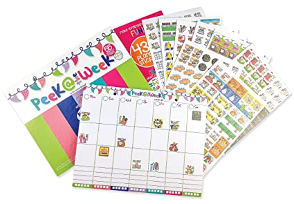 amazon com weekly planner pad bundle event stickers variety sets