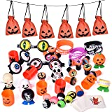 FUN LITTLE TOYS Halloween Party Supplies Toy Assortment Goody Bags for Kids' Trick-or-Treat Party Favor,, Birthday Party, School Classroom Rewards, Carnival Prizes – 72 PCs