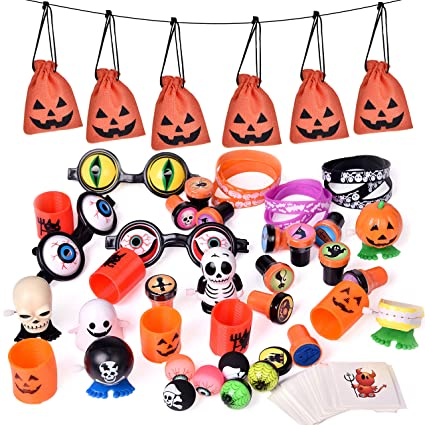 Halloween Theme Party Ideas For Kids.Fun Little Toys 72 Pcs Halloween Party Supplies Toy Assortment Goody Bags For Kids Trick Or Treat Bags Prefect Halloween Party Decorations