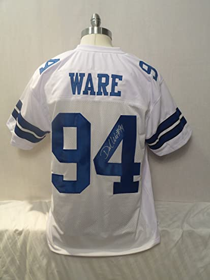 purchase cheap 6b5db 5a59f DeMarcus Ware Signed Dallas Cowboys White Autographed Jersey ...