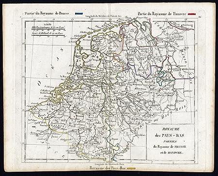 Theprintscollector Antique Map Netherlands Belgium Prussia Hanover