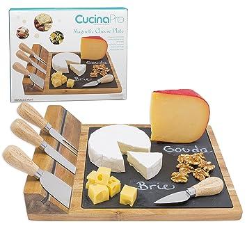 CucinaPro Queso magnético tablero de lujo placa de queso con ...