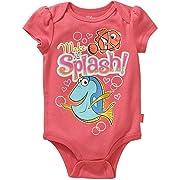 Disney Baby Girl's Finding Nemo Baby Bodysuit Baby Creeper 6-9 Months Pink
