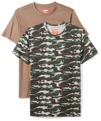 d48a51d8f0b Flying Ace Men s 2-Pack Solid and Camo Printed Jersey Crew Neck T-Shirt