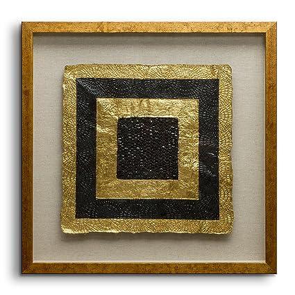 Amazon.com: Fredrik Lorenz Original Riva: Golden Shapes Luxury Wall ...