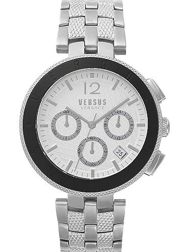 Versus by Versace Reloj Analogico para Hombre de Cuarzo con Correa en Acero Inoxidable VSP762418: Amazon.es: Relojes
